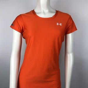 Under Armour athletic shirt fitted orange